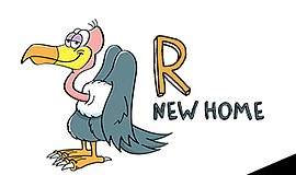 "Promotional graphic for Community Actors Theatre's ""R New Home."" The producti..."