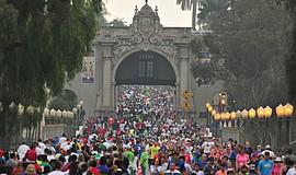 Participants at the Race for Autism at Balboa Park.