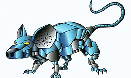 Promotional graphic of a robotic rat by artist Brianp3. Courtesy of SDARI. Th...