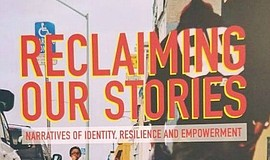 "A photo of the book, ""Reclaiming Our Stories."""