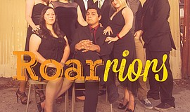 Promotional photo of Roar Theatre's improv actors and actresses, the Roarriors.