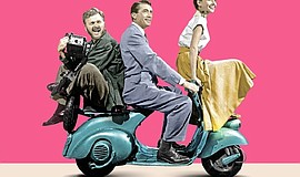 "Cropped version of the ""Roman Holiday"" movie poster."