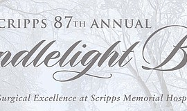 Promotional graphic for Scripps Health 87th Annual Candlelight Ball.