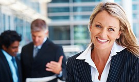 Promotional photo of a businesswomen, courtesy of the San Diego Employers Ass...