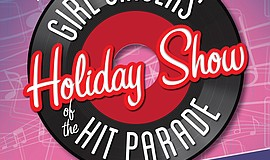 Promotional graphic for The Girl Singers Of The Hit Parade Holiday Show.