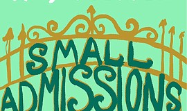 "Cropped version of the ""Small Admissions"" book cover."