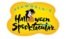Promotional graphic for Seaworld's Halloween Spooktacular.