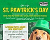 Promotional flyer for Backyard Kitchen & Tap's St. PAWtrick's Day celebration. Courtesy of Backyard Kitchen & Tap.