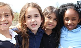 Promotional photo of Kavod Elementary Charter School students.