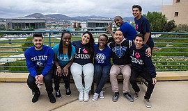 Promotional photo of CSU San Marcos students. Courtesy of CSUSM.