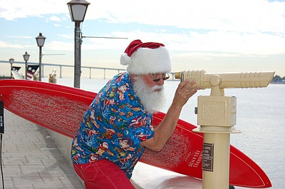 Promotional photo for Surfin' Santa Arrival.