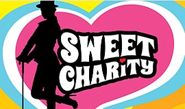 "A promotional graphic for The Welk's ""Sweet Charity."""