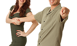 Swing dancing teachers, photo courtesy of Swing Dancing San Diego