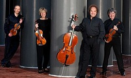 A publicity photo of Takács Quartet, courtesy of La Jolla Playhouse.