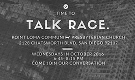 Promotional flier for the Talk Race Forum.