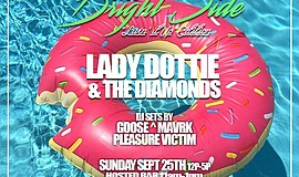 Promotional flyer for The Bright Side, 'Livin It Up' Edition.