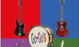 "Cropped version of ""The Go Go's: A YinPop Guide"" book cover."