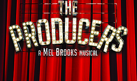 "Promotional graphic for ""The Producers."""