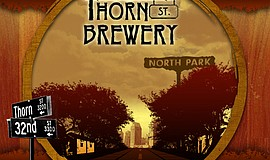 Promotional graphic for Thorn St. Brewery.