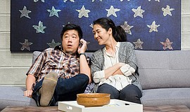 "Raymond J. Lee and Jackie Chung in La Jolla Playhouse's production of ""Tiger ..."