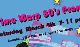 Promotional graphic for The Princess Project San Diego prom fundraiser.