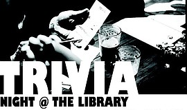 Promotional photo for Trivia Night at the Library.
