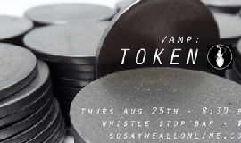 Promotional graphic for VAMP: Token. The Storytelling Showcase will take plac...