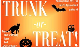 Promotional photo for Trunk-or-Treat, courtesy of Faith Presbyterian Church.