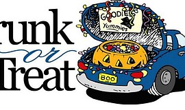 Promotional graphic for Palisades Church's Trunk or Treat event.