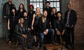 Promotional photo of Tedeschi Trucks Band musicians. Courtesy of Fantasy Reco...