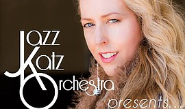 Promotional flier for the JazzKatz Orchestra and Allison Adams Tucker.