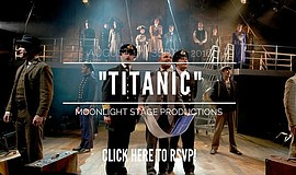 "Promotional graphic and actors performing in ""Titanic The Musical."" Courtesy ..."