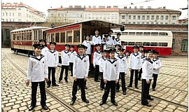 A photo of the Vienna Boys Choir, courtesy of the San Diego Symphony.