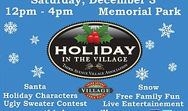 Promotional graphic for Third Avenue Village Association's Holiday in the Vil...