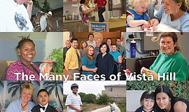 "Photo collage showing ""The Many Faces of Vista Hill."""