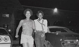 Photograph by Carrie Mae Weems titled Welcome Home, courtesy of the artist an...