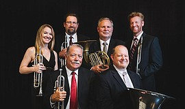 Promotional photo of the professional brass ensemble, Westwind Brass.