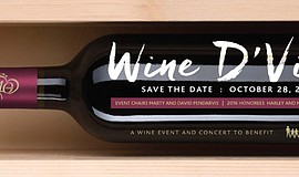 Promotional graphic for Wine D'Vine.