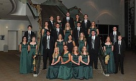 Promotional photo of choir members for the Poway High School Winter Concert.