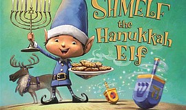 "Cover art for Greg Wolfe's ""Shmelf the Hanukkah Elf."""