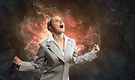 Promotional photo of an angry woman for the Women, Anger & Empowerment worksh...