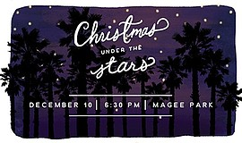 Promotional graphic for Christmas Under the Stars. Courtesy of The Fields Chu...