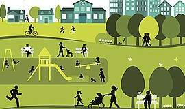 Promotional graphic for Livable Communities. Courtesy of Getty Images.