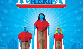 "A promotional graphic of ""American Hero,"" courtesy of New Village Arts."