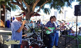 The Blue Frog Band performs at Coronado Ferry Landing.