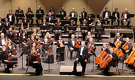 Photo of the performing orchestra. Courtesy of the Poway Symphony Orchestra.