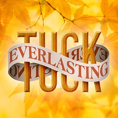 """A promotional graphic for Junior Theatre's """"Tuck Everlast..."""