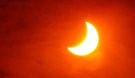 Photo of an eclipse. Courtesy of the Fleet Science Center.