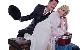 "A promotional photo for Cygnet Theatre's ""On the Twentieth Century."""