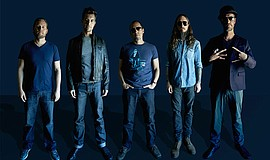 Promotional photo of 311 band members.